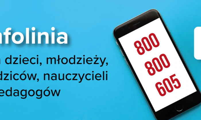 """800 800 605 – ruszyła całodobowa bezpłatna infolinia dla dzieci, młodzieży, rodziców i pedagogów """"Pomagamy"""""""
