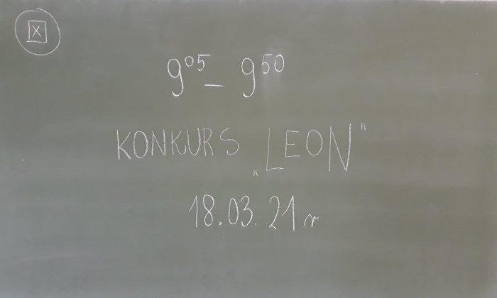 OGÓLNOPOLSKI KONKURS LEON  sesja wiosenna klasa 1